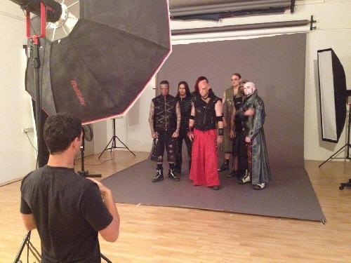 Skupina Tanzwut Fotoshooting na Album